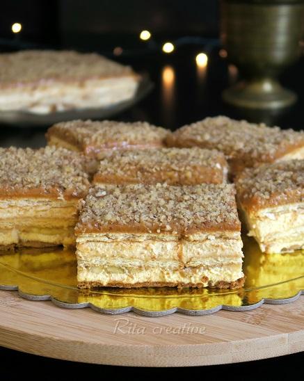 krówkowe ciasto z bananami