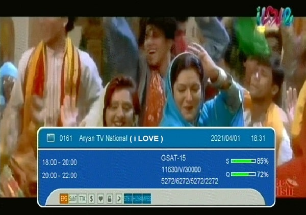 i love Hindi Music channel number and frequency list