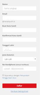 Cara Daftar Email Merahputih.id