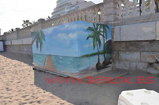 Murales playa caribe puente Sitges