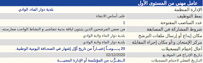 تعلن بلدية دوار الماء. الوادي  عن فتح مسابقة توظيف للالتحاق بمناصب الشغل التالية :