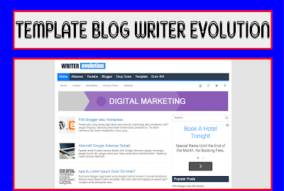 Writer Evolution Blogger Template Responsive Free Download