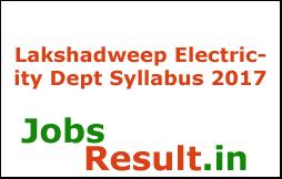 Lakshadweep Electricity Dept Syllabus 2017