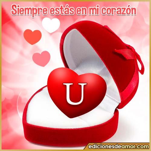corazón con frases U