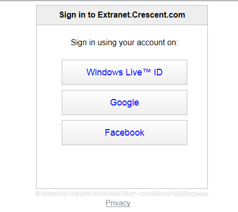Integrating Windows Live ID, Google and Facebook Authentications with SharePoint 2013