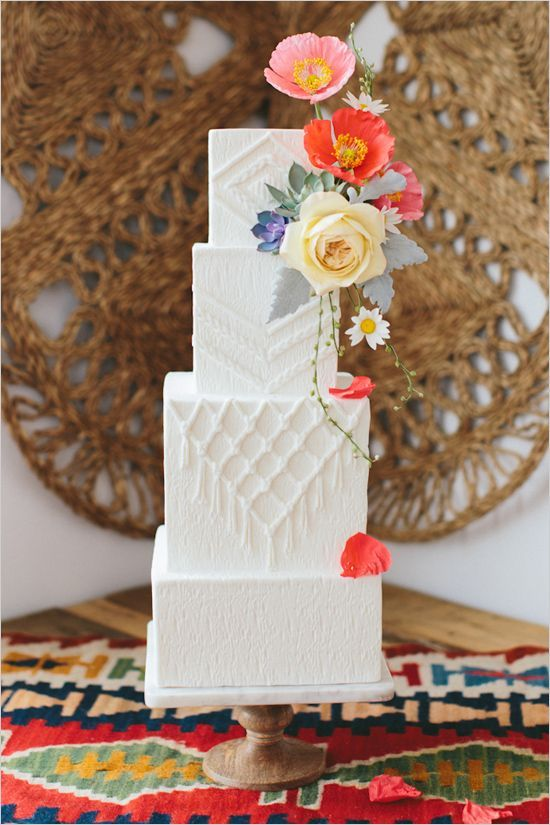 tarta de boda macrame - decora tu boda con macrame
