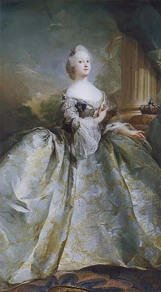 Queen Louise of Denmark in her Coronation Robes by Carl Gustaf Pilo, 1751