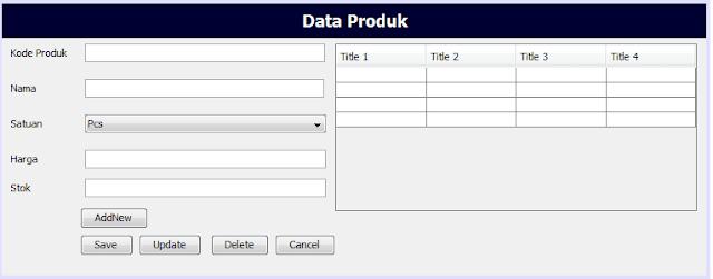 Membuat Aplikasi CRUD Sederhana Menggunakan Java Netbeans