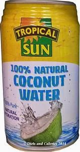 Tropical sun coconut water