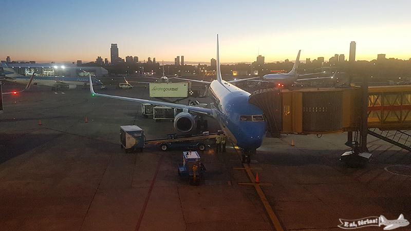 Avião da Aerolineas Argentinas no Aeroparque