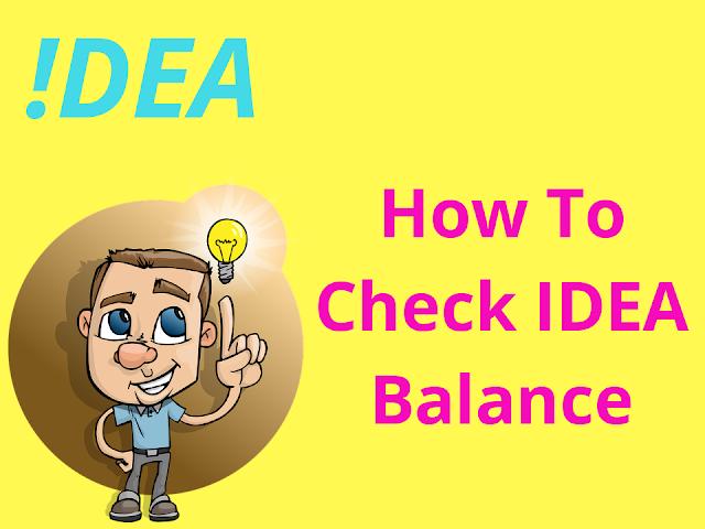 How to check idea balance