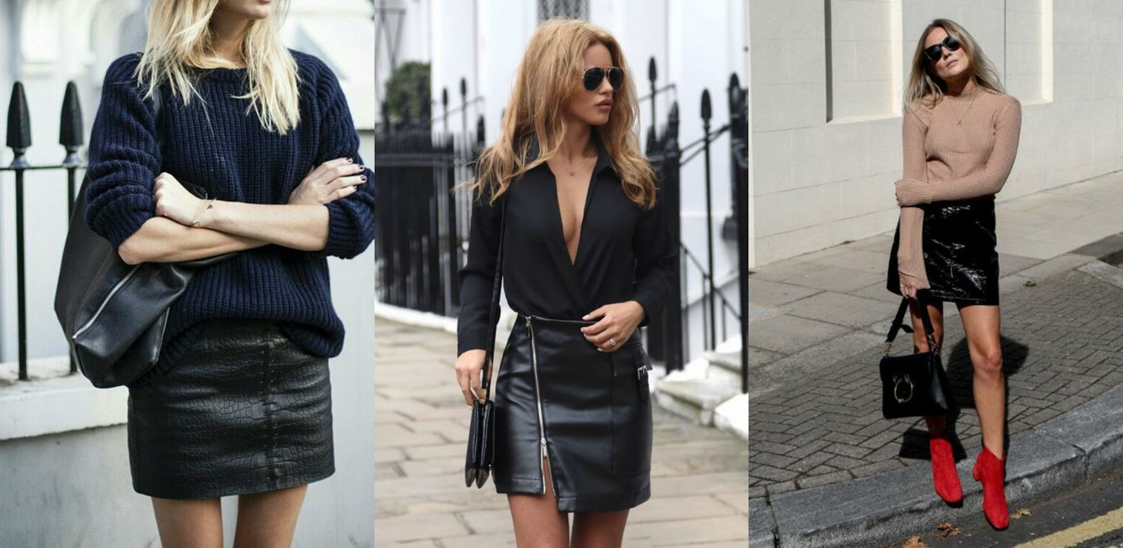 How To Style // Leather Skirts