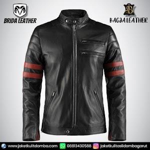 Jual Jaket Kulit Asli Garut Pria Domba Original Brida Leather B18   WA 08813430588