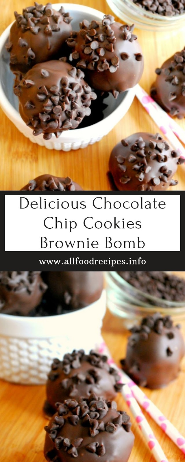 Delicious Chocolate Chip Cookies Brownie Bomb