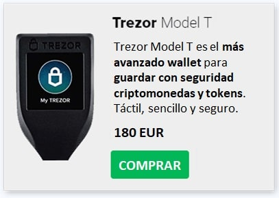 Comprar Trezor Model T Guardar Criptomonedas METAL (MTL)