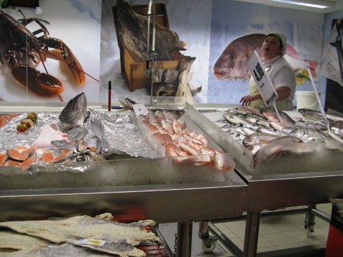 Fish stall at a supermarket in Lisbon