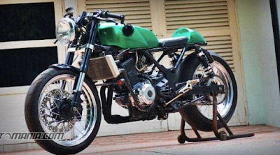 Modifikasi Cafe Racer Ninja RR
