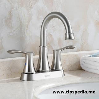 brushed nickel bathroom sink faucet