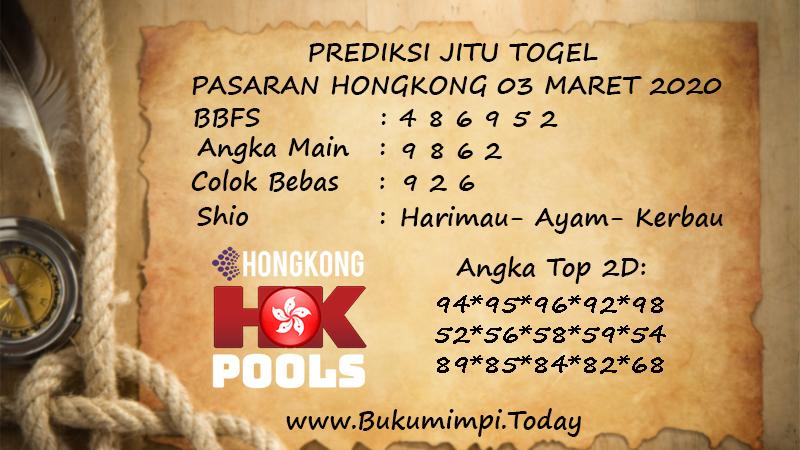 Prediksi Togel JP Hongkong Selasa 03 Maret 2020 - Prediksi buku mimpi
