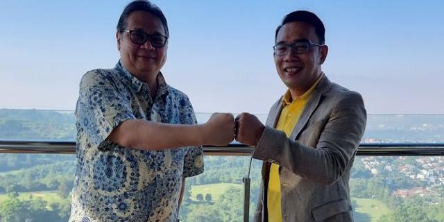 Ridwan Kamil Akui Bahas Politik dengan Airlangga: Mudah-mudahan Tanda Kolaborasi
