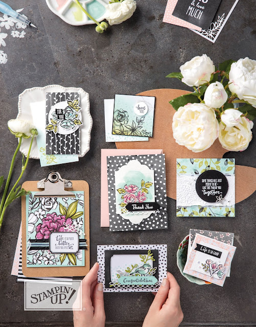 projeta avec la collection passion de pétales Stampin' Up!