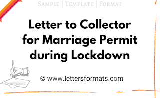 permission letter format for marriage during lockdown