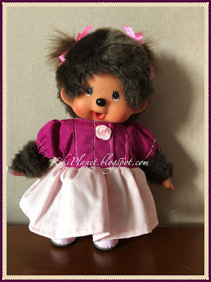 kiki monchhichi poupée doll couture sewing robe dress handmade fait main