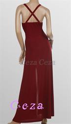 ddea548e9239 Flott kjole med frekk splitt. -Nydelige paljetter og perler samt et  skinnende speil under brystet. -Ingen glidelås.