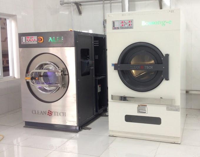 Lắp đặt máy giặt công nghiệp cho bệnh viện ở Hà Tĩnh