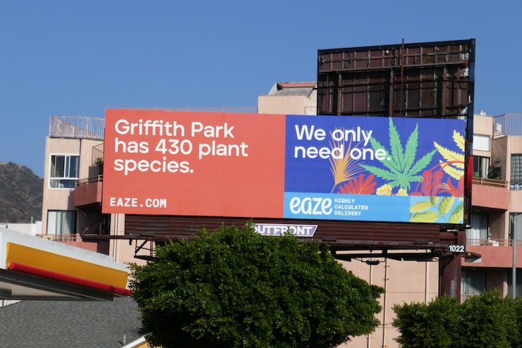 Griffith Park 430 plant Species Eaze billboard