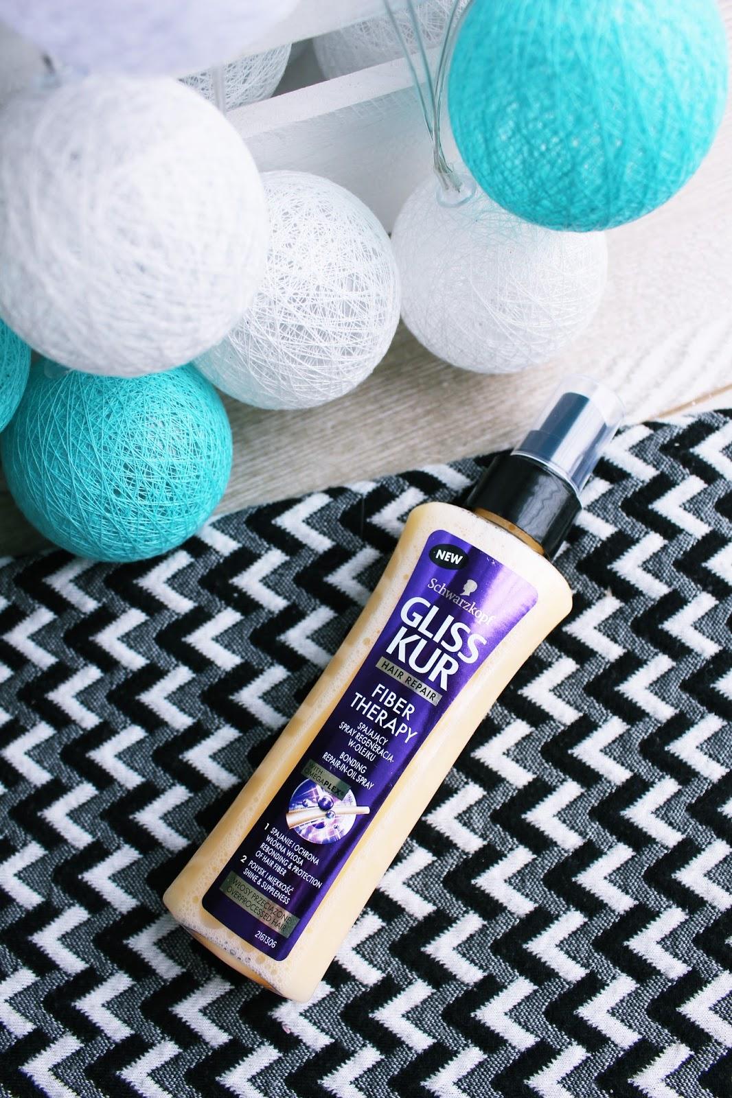 Gliss Kur, Fiber Therapy, spajający spray do włosów, eliksir, regeneracja w olejku