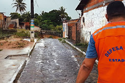 Defesa Civil Estadual divulga novo balanço dos impactos das chuvas em Sergipe