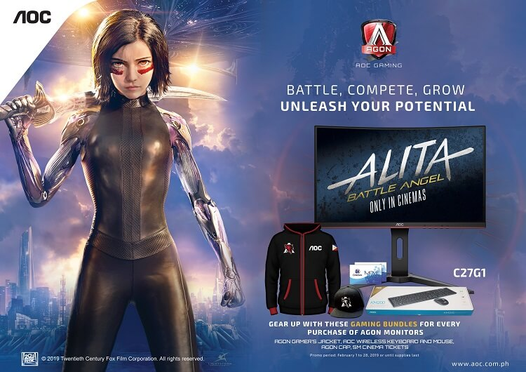 20th Century Fox Taps AOC as Official Monitor Partner of Alita: Battle Angel