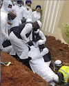 News In Pictures: Ajimobi buried in Ibadan home