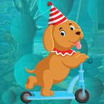 G4K Party Hat Dog Escape