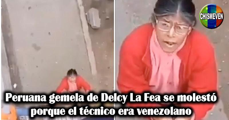 Peruana gemela de Delcy La Fea se molestó porque el técnico era venezolano