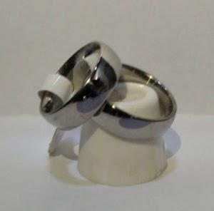 Cincin couple titanium model simple tebal enak di pakai SEHARI HARI