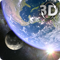 Earth & Moon in HD Gyro 3D Parallax Live Wallpaper Apk for Android