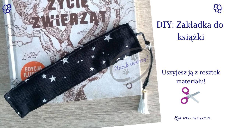 DIY: Zakładka do książki, którą uszyjesz z resztek tkanin