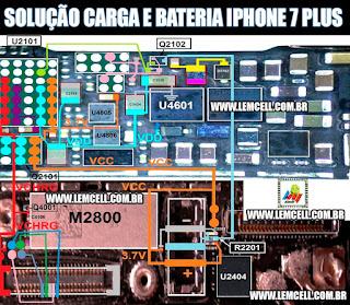 Solução Jumper para Carga, Bateria iPhone 7 Plus Charging Solution Ways iPhone 7 Plus