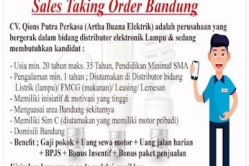 Lowongan Kerja Sales Taking Order Bandung