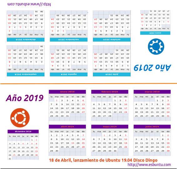¡Feliz año! y un regalo para Binabik Calendario%2Bubuntero%2B2019