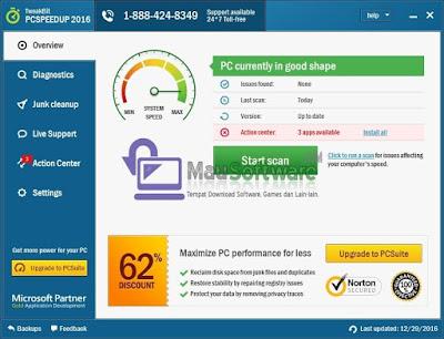 cara meningkatkan kinerja komputer atau laptop dengan TweakBit PCSpeedUp full