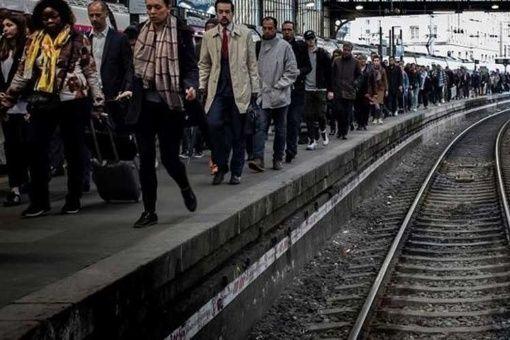 Huelga contra reforma ferroviaria en Francia en su último ciclo