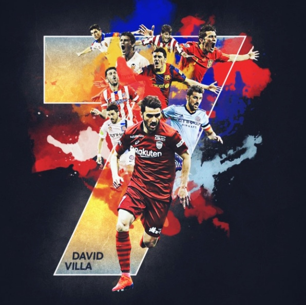 Spain's all-time leading goalscorer David Villa  Announces Retirement from Football at End of Season