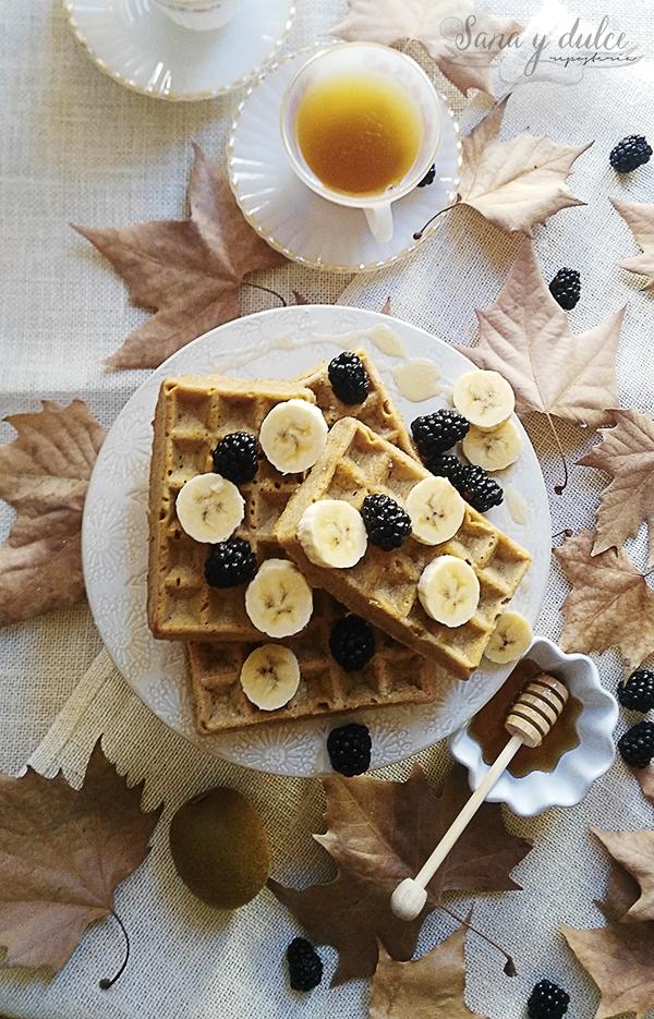 gofres-avena-miel-waffles
