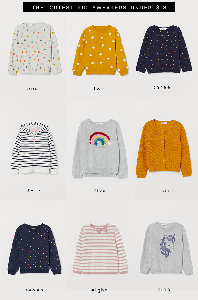 9 Adorable Kids' Sweaters Under $18