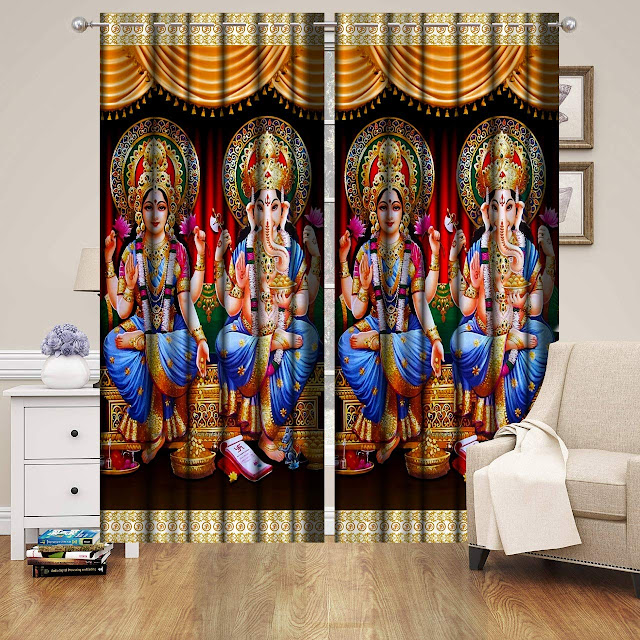 Gods Printed on Curtains