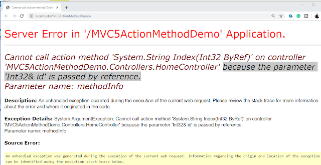 Action Method In MVC 5