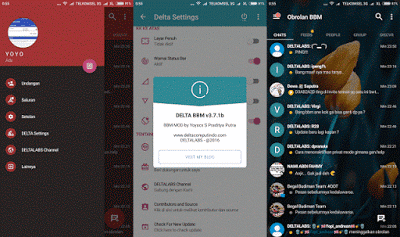 DELTA BBM v3.7.1b [BBM v3.0.1.25] Mod Apk Terbaru